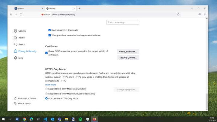 Mise à jour du navigateur Firefox Mozilla