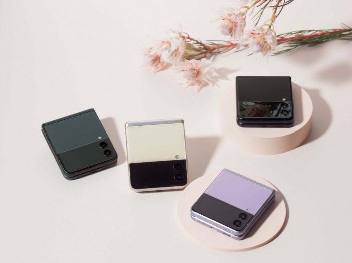 Galaxy Z Flip 3 en quatre couleurs différentes