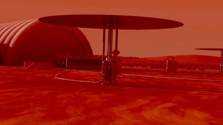 Image d'un réacteur nucléaire pour l'énergie nucléaire sur Mars de la NASA