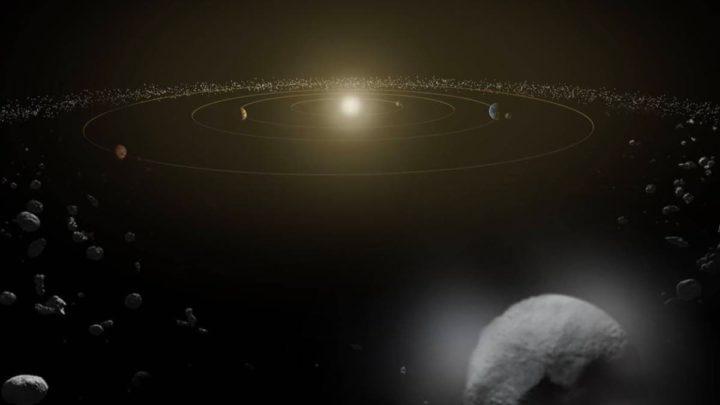 Illustration de la ceinture d'astéroïdes
