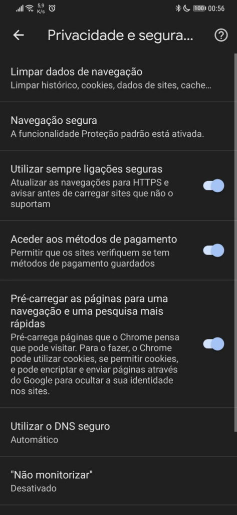 Navigateur Chrome Sécurité Google anonyme