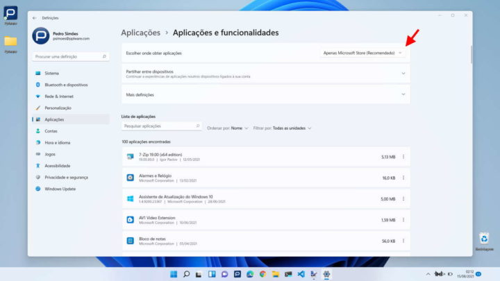 Installation du magasin d'applications Microsoft Windows 11
