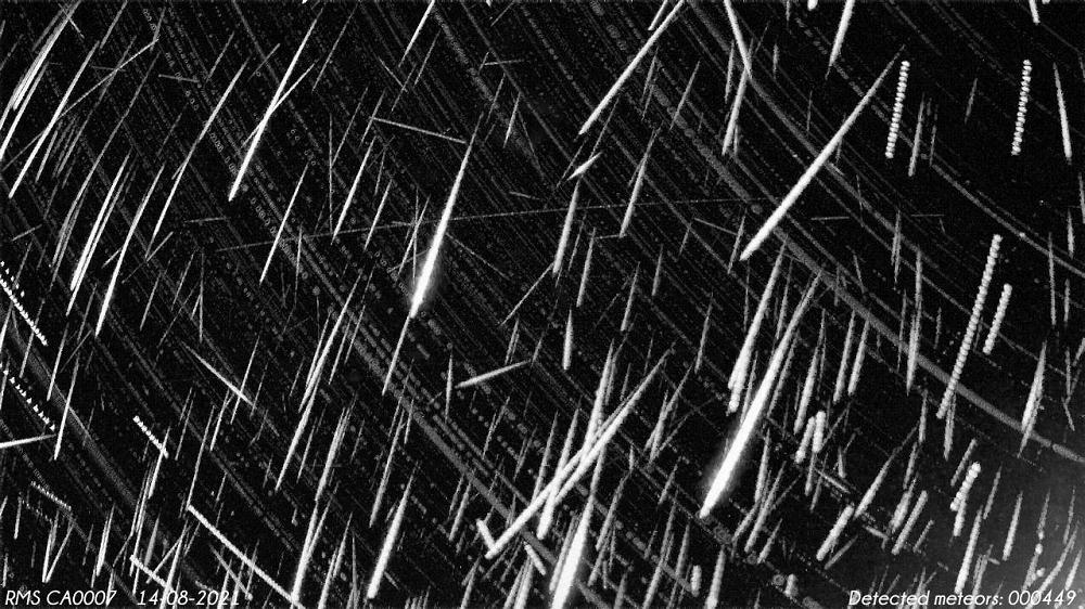 449 météores enregistrés par la station de surveillance RMS CA0007 au Canada