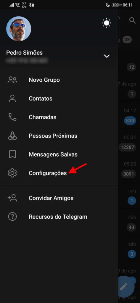 Configuration des paramètres de l'interface de télégramme