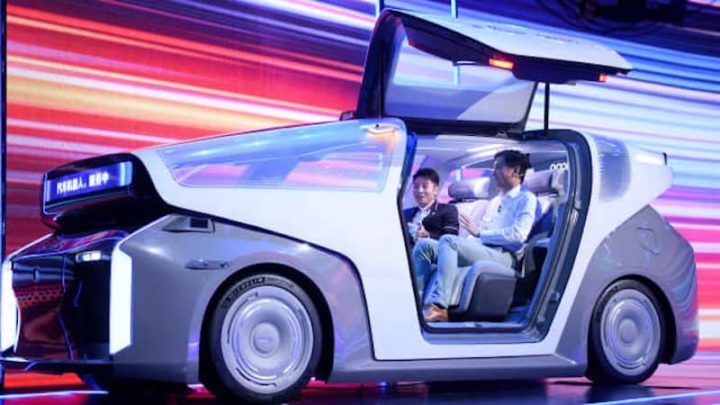 Robot de voiture électrique Baidu