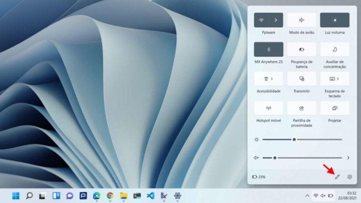 Paramètres rapides de Windows 11 Personnaliser Microsoft