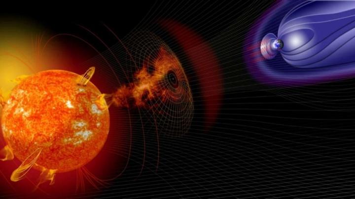 Le champ magnétique terrestre comme bouclier.