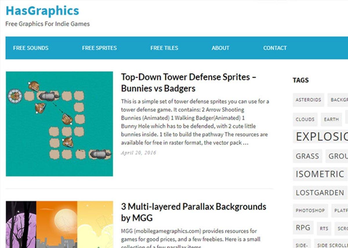 HasGrafics est l'un des meilleurs sites Web pour télécharger des sprites gratuitement