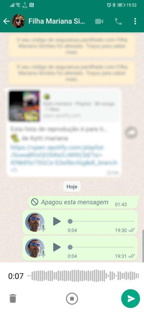 Message vocal de nouveauté WhatsApp enregistré