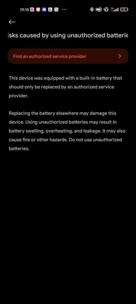 Alerte de problème de charge des batteries Xiaomi