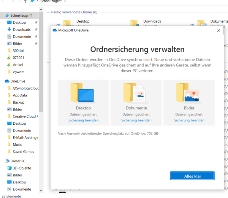 OneDrive fait désormais partie de Windows 10, vous pouvez déplacer automatiquement les données du cloud vers votre ordinateur.  (Capture d'écran)