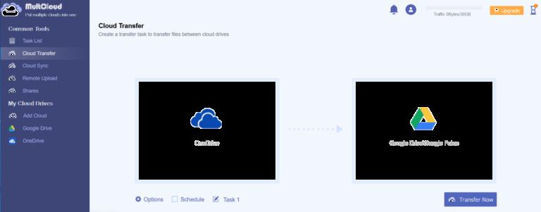 MultCloud facilite le transfert.  (Capture d'écran)