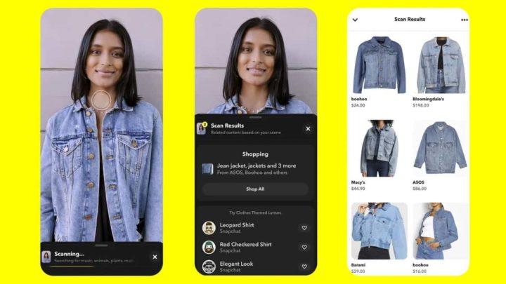 Snapchat Scan, fonctionnalité d'achat