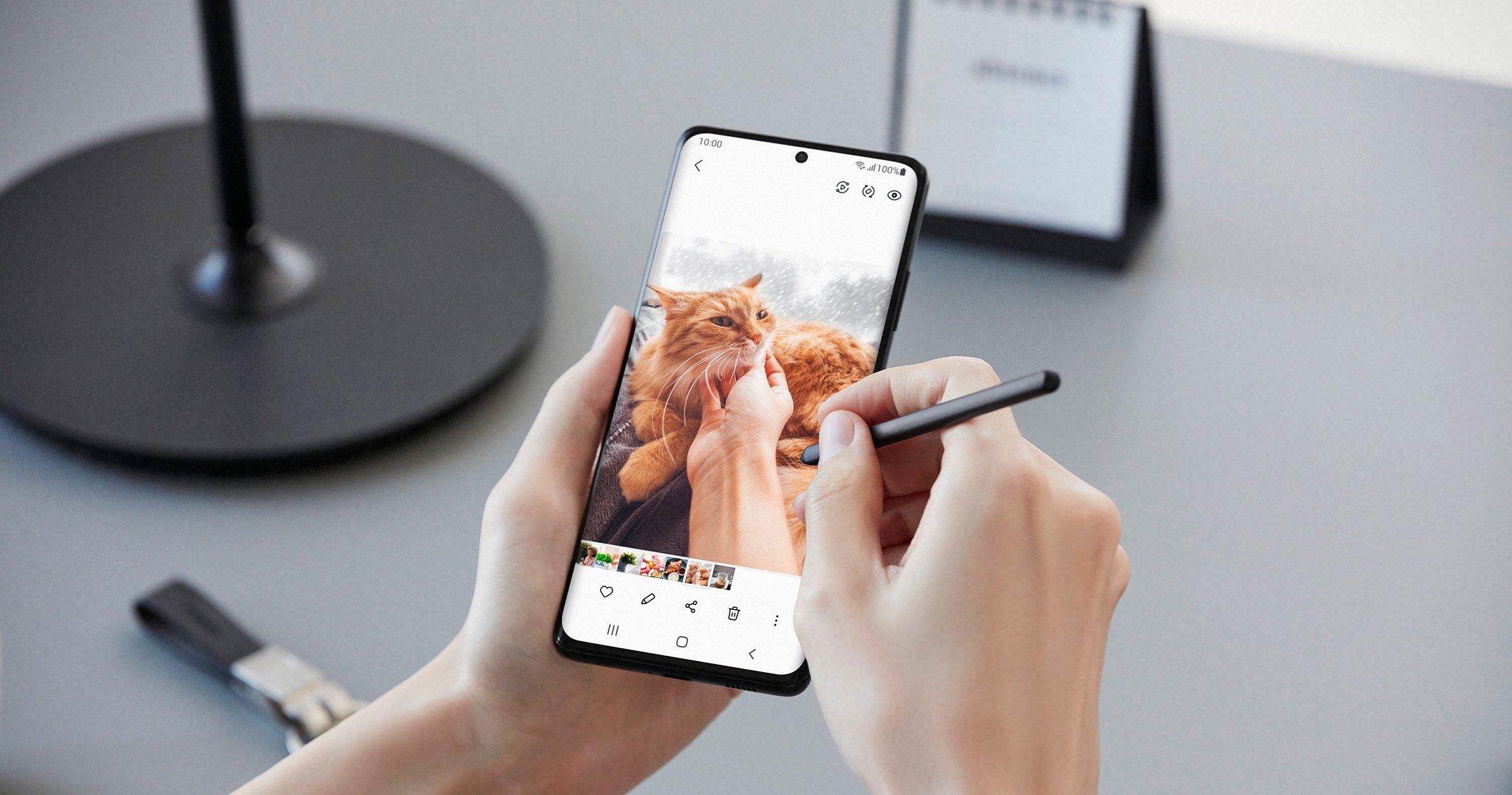 Galaxy S21 Ultra, écriture avec S-Pen