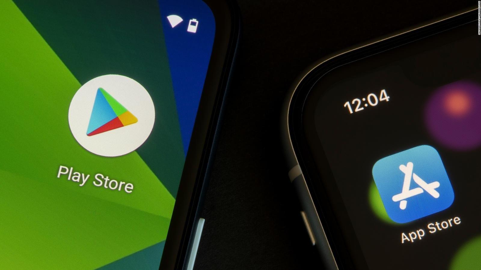 Magasins d'applications Google et Apple