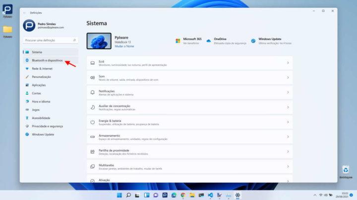 Périphérique de batterie Bluetooth Windows 11