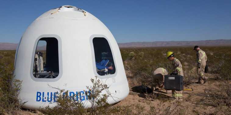 Blue Origin Poursuit La Nasa Pour La Décision D'attribuer Un