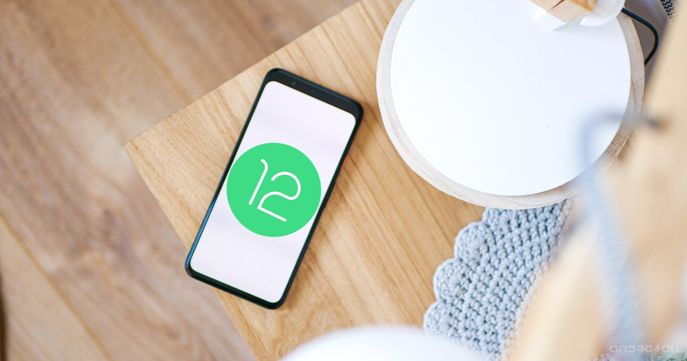 Android 12 sur un Google Pixel