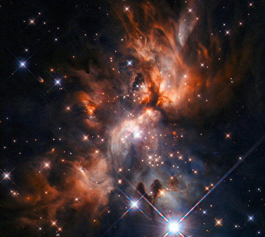 Hubble fait une belle image de pepiniere detoiles