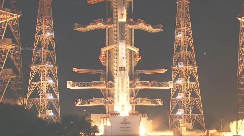 L'image montre le satellite indien EOS-03 qui a été perdu après l'échec de la fusée quelques minutes après son lancement
