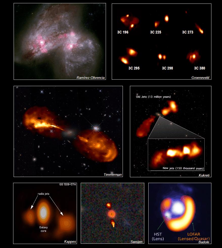 Les astronomes publient des photos de jets de trous noirs