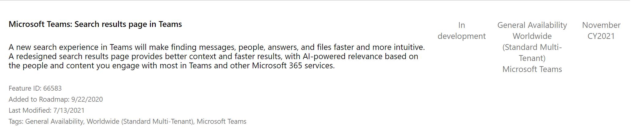 La nouvelle recherche dans Microsoft Teams
