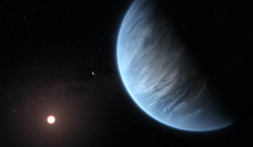 Rendu artistique d'une exoplanète hycéanique