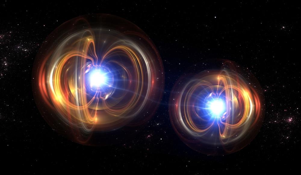 Illustration montrant deux photons, des particules légères qui, selon Albert Einstein, peuvent générer de la matière s'ils entrent en collision à une vitesse extrême