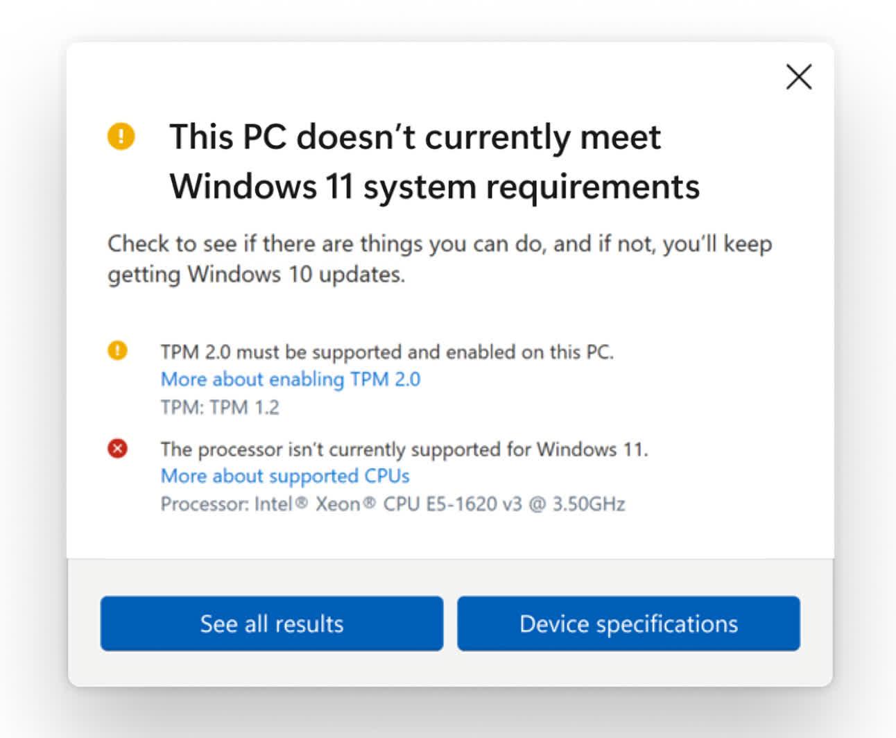 Microsoft met a jour la configuration minimale requise pour Windows