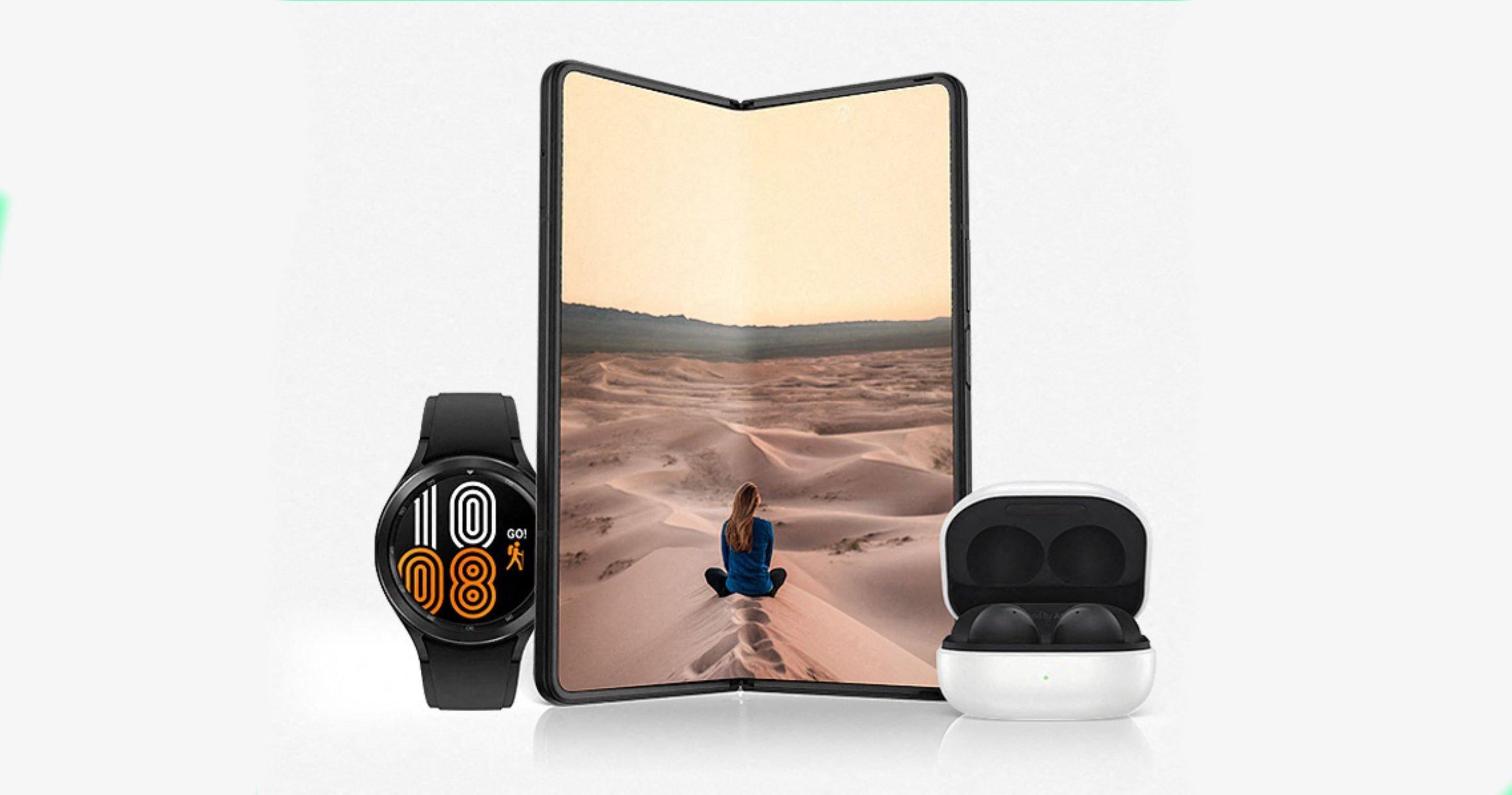 Samsung Galaxy Z FOLD3 avec accessoires