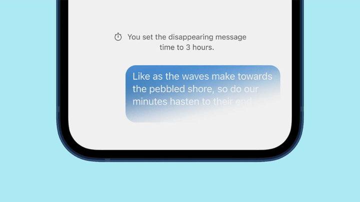 Signalez des messages éphémères des conversations de nouveauté