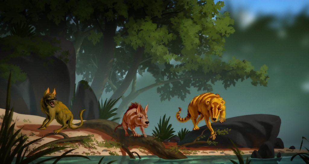 L'illustration montre trois découvertes récentes de mammifères qui suggèrent une évolution plus rapide qu'on ne le pensait auparavant