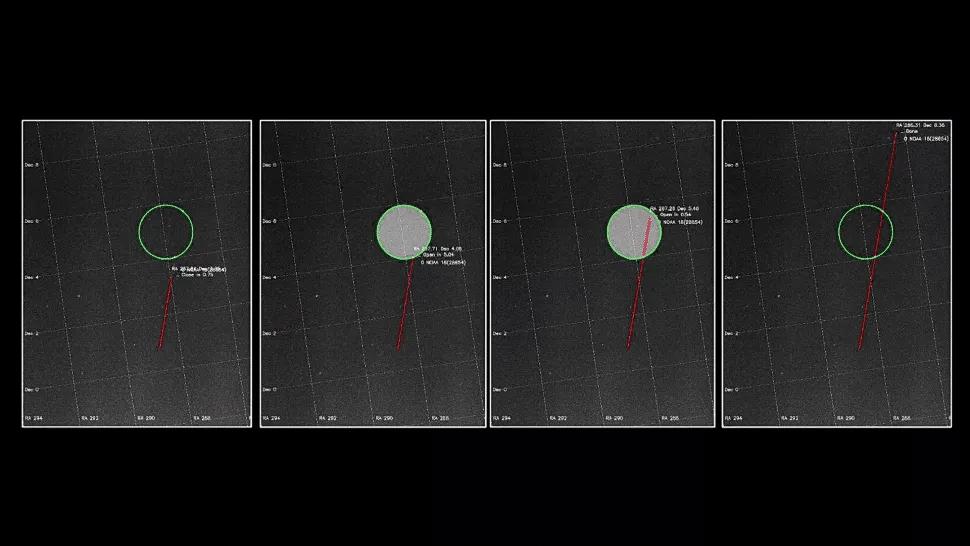 Le graphique montre une technologie de démarrage russe qui empêche les satellites d'être vus dans les observations astronomiques