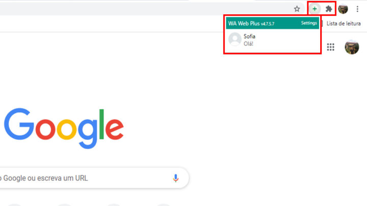 """Extension """"WA Web Plus pour WhatsApp"""" de Google Chrome"""