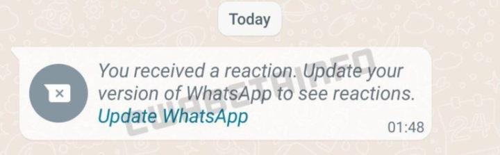 WhatsApp recevra des reactions aux messages