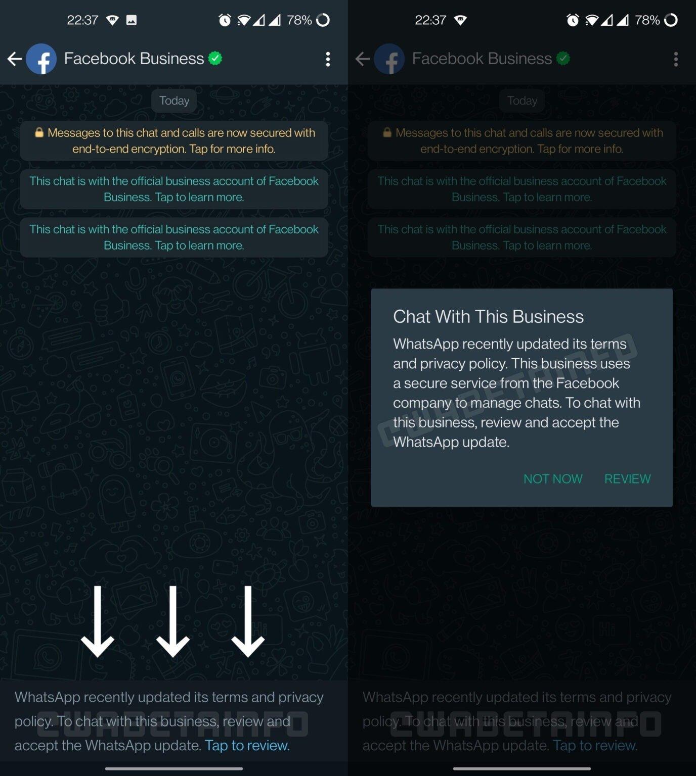 Politiques WhatsApp obligatoires dans WhatsApp Business