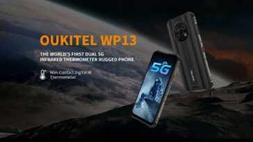Oukitel Wp13 5g Smartphone Dur Anti Choc Solide