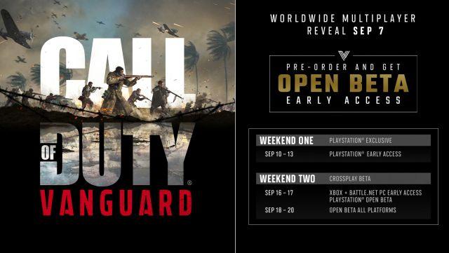 Call of Duty: Vanguard bêta ouverte comment jouer aux précommandes ps5 ps4 xbox pc