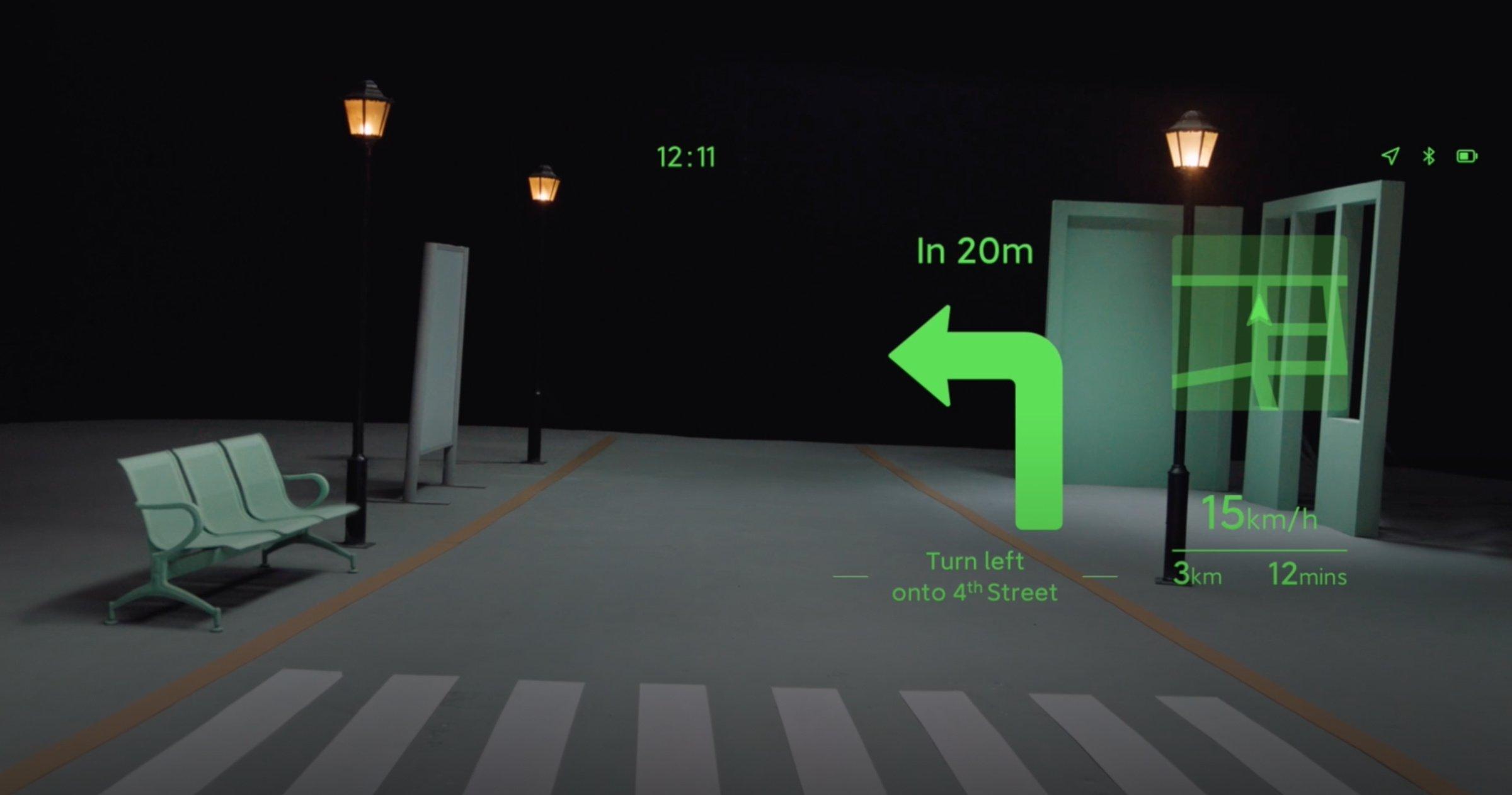 Navigation avec les lunettes intelligentes Xiaomi