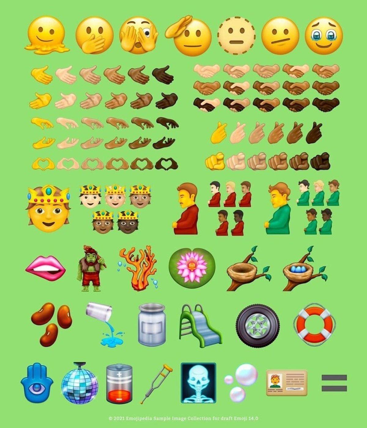 Tous les nouveaux emojis Unicode 14
