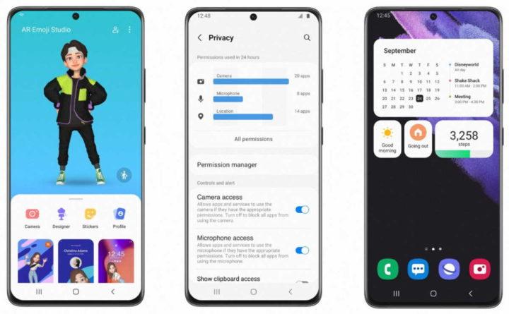 Téléphones intelligents Samsung One UI 4.0 Android 12