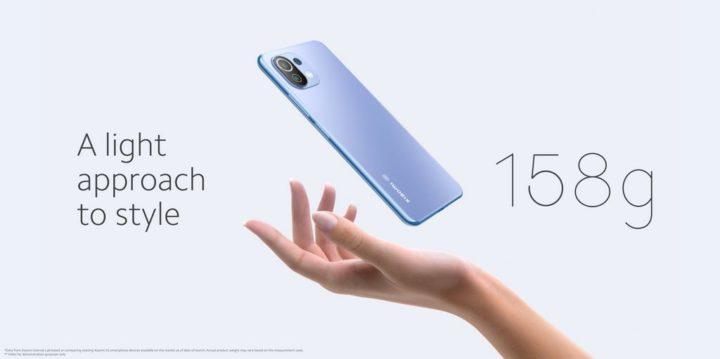 1631719985 641 Xiaomi 11 Lite 5G NE – un design ultra leger sans