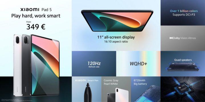 Il y a une nouvelle tablette sur le marché : venez voir le Xiaomi Pad 5