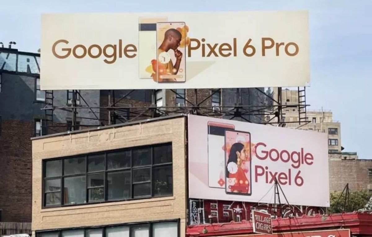 Panneaux d'affichage Google Pixel 6