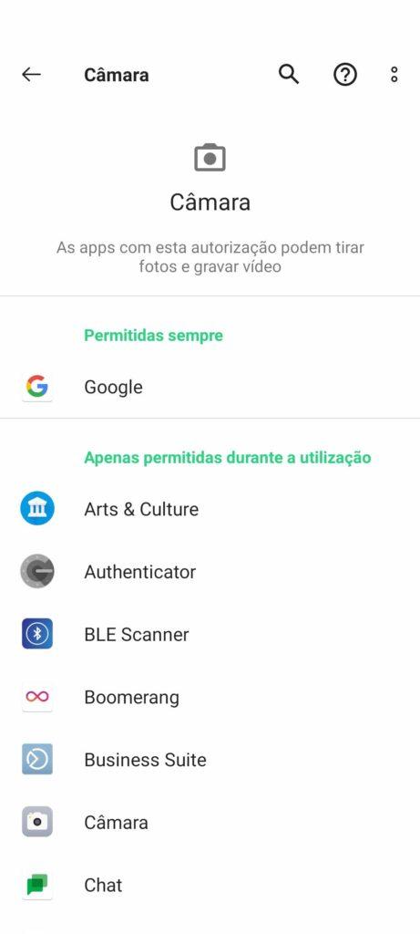 Autorisations des applications de sécurité Google Android