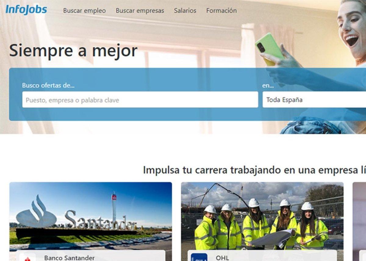 Infojobs une autre des meilleures pages pour trouver un emploi