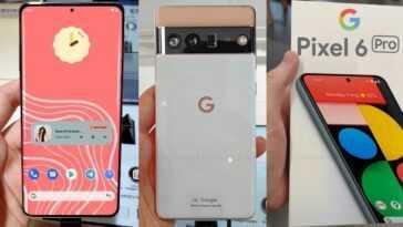 Le Google Pixel 6 Pro Est Vu En Vidéo Pour