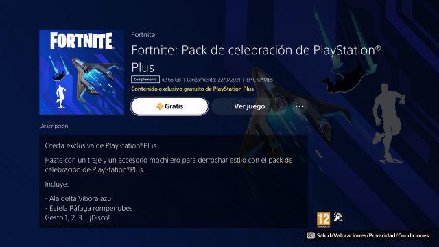 fortnite épisode 2 saison 8 septembre 2021 playstation gratuit plus pack célébration comment télécharger
