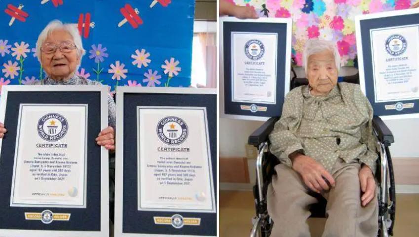 A 107 ans les soeurs japonaises sont les plus vieilles