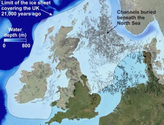 Des images revelent des paysages caches de la periode glaciaire